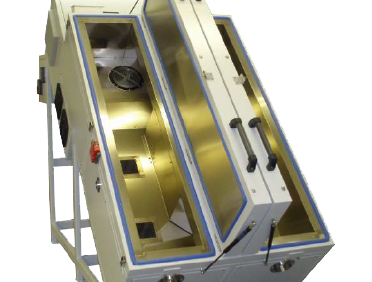 test chamber for long, thin product testing
